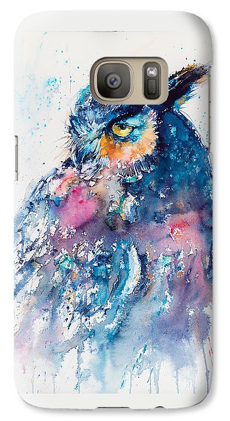 Great Horned Owl Galaxy Case by Kovacs Anna Brigitta