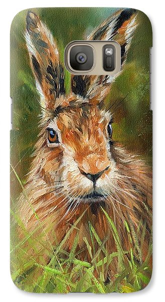 hARE Galaxy S7 Case by David Stribbling