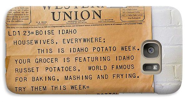Idaho Potato Museum Galaxy S7 Case by Jim West