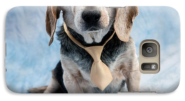 Kippy Beagle Senior And Best Dog Ever Galaxy S7 Case by Iris Richardson