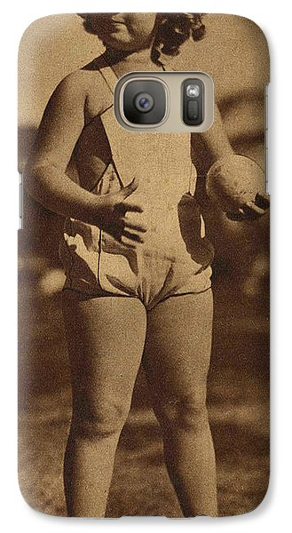 Lawn Bowling With Shirley Temple Galaxy S7 Case by Pierponit Bay Archives
