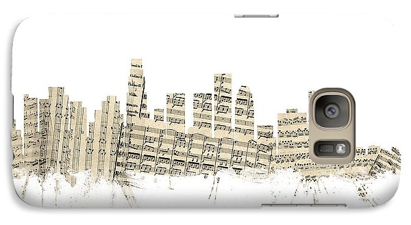 Los Angeles California Skyline Sheet Music Cityscape Galaxy Case by Michael Tompsett