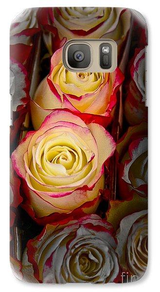 Love Is A Rose Galaxy Case by Al Bourassa