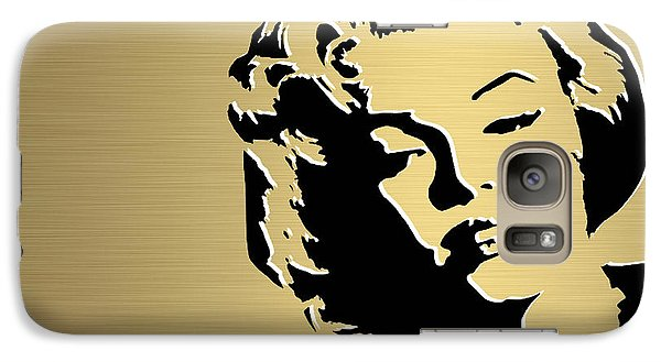 Marilyn Monroe Gold Series Galaxy Case by Marvin Blaine