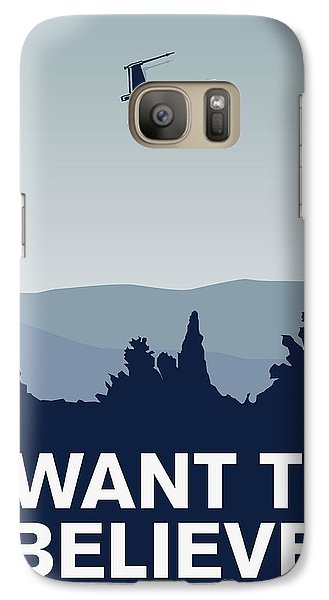 My I Want To Believe Minimal Poster-xwing Galaxy S7 Case by Chungkong Art
