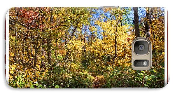 Galaxy Case featuring the photograph Narrow Path Through A Forest In Autumn Pennsylvania by A Gurmankin
