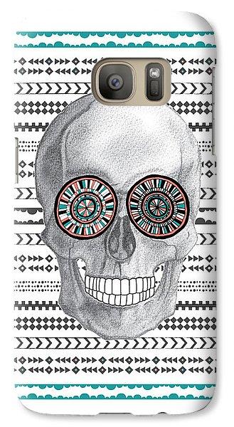 Navajo Skull Galaxy S7 Case by Susan Claire