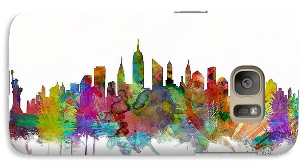 New York City Skyline Galaxy Case by Michael Tompsett