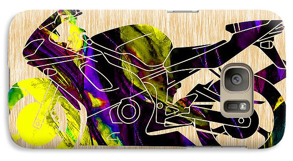 Ninja Motorcycle Art Galaxy Case by Marvin Blaine