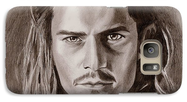 Orlando Bloom Galaxy Case by Michael Mestas