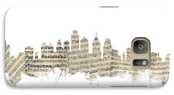 Philadelphia Pennsylvania Skyline Sheet Music Cityscape Galaxy S7 Case by Michael Tompsett