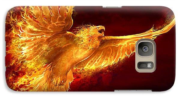 Phoenix Rising Galaxy Case by Tom Wood