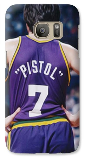 Pistol Pete Maravich Galaxy Case by Paint Splat