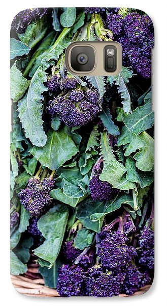 Purple Sprouting Broccoli Galaxy S7 Case by Aberration Films Ltd