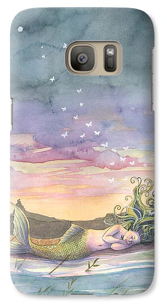 Rest On The Horizon Galaxy S7 Case by Sara Burrier