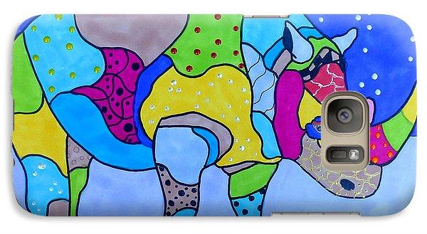 Rolo The Rhino Galaxy S7 Case by Raela K