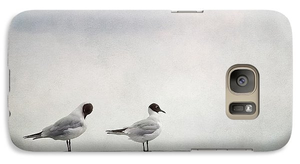 Seagulls Galaxy Case by Priska Wettstein