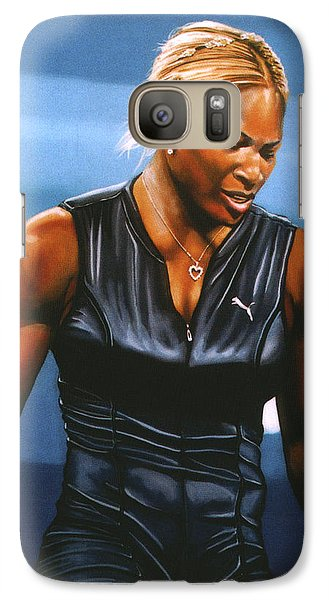 Serena Williams Galaxy S7 Case by Paul Meijering