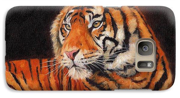 Sumatran Tiger  Galaxy Case by David Stribbling