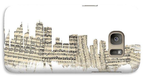 Sydney Australia Skyline Sheet Music Cityscape Galaxy S7 Case by Michael Tompsett