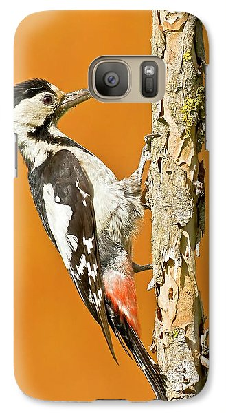 Syrian Woodpecker (dendrocopos Syriacus) Galaxy S7 Case by Photostock-israel