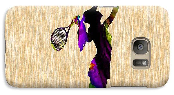 Tennis Match Galaxy Case by Marvin Blaine