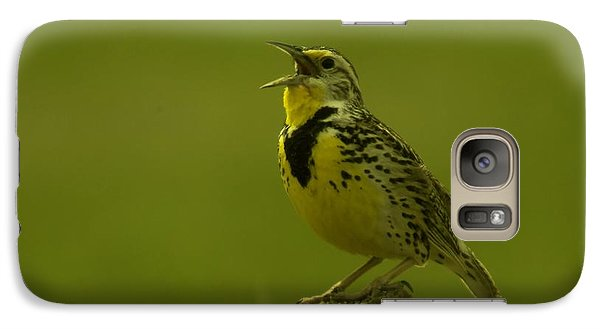 The Meadowlark Sings Galaxy Case by Jeff Swan