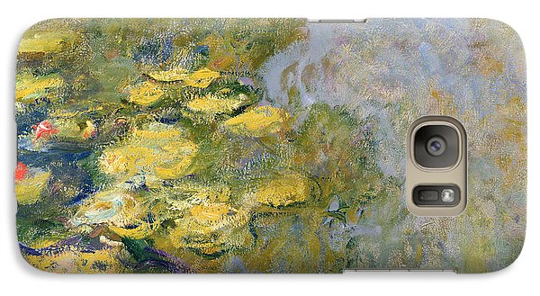 The Waterlily Pond Galaxy Case by Claude Monet