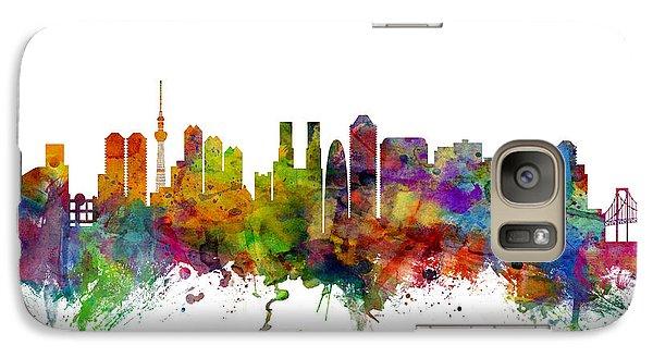 Tokyo Japan Skyline Galaxy S7 Case by Michael Tompsett