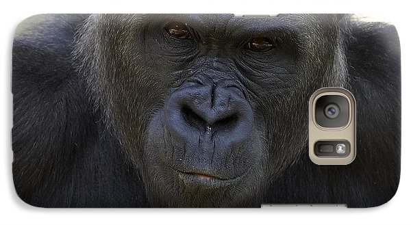 Western Lowland Gorilla Portrait Galaxy Case by San Diego Zoo