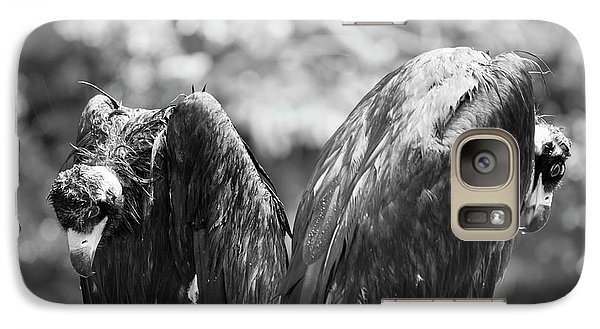 White-backed Vultures In The Rain Galaxy Case by Pan Xunbin