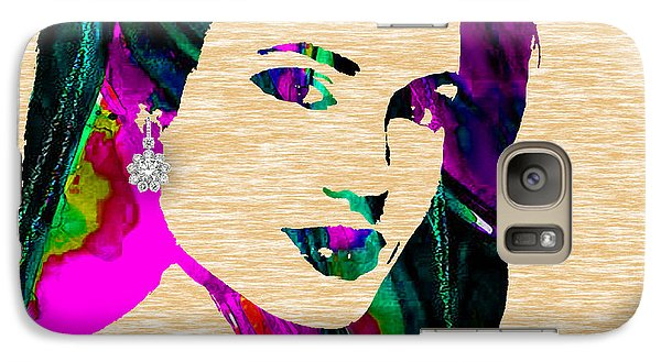 Angelina Jolie Collection Galaxy Case by Marvin Blaine