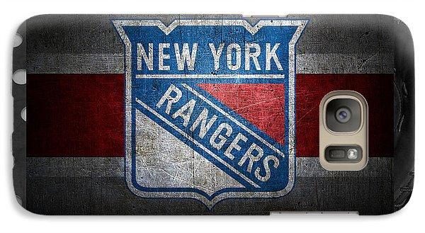 New York Rangers Galaxy S7 Case by Joe Hamilton