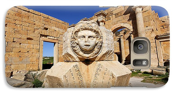 Sculpted Medusa Head At The Forum Of Severus At Leptis Magna In Libya Galaxy Case by Robert Preston