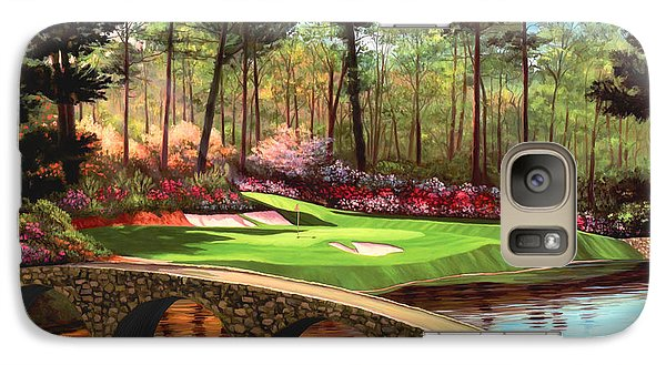 12th Hole At Augusta  Galaxy S7 Case by Tim Gilliland