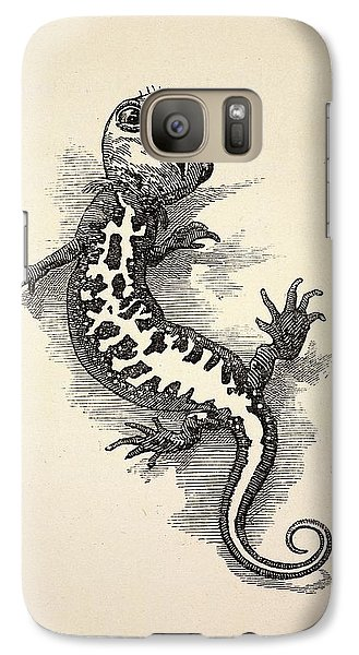 1863 Kingsley Waterbabies Human Newt Galaxy S7 Case by Paul D Stewart