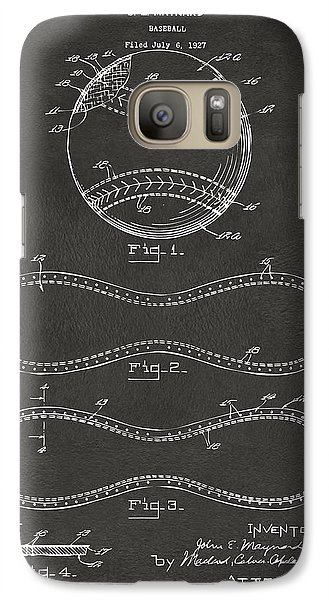 1928 Baseball Patent Artwork - Gray Galaxy S7 Case by Nikki Marie Smith