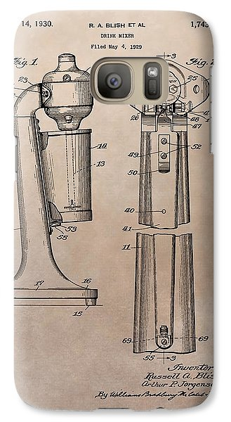 1930 Drink Mixer Patent Galaxy S7 Case by Dan Sproul