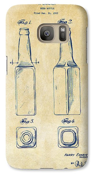 1934 Beer Bottle Patent Artwork - Vintage Galaxy Case by Nikki Marie Smith