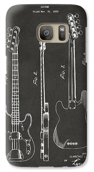 1953 Fender Bass Guitar Patent Artwork - Gray Galaxy S7 Case by Nikki Marie Smith