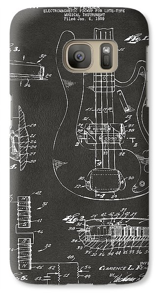 1961 Fender Guitar Patent Artwork - Gray Galaxy S7 Case by Nikki Marie Smith