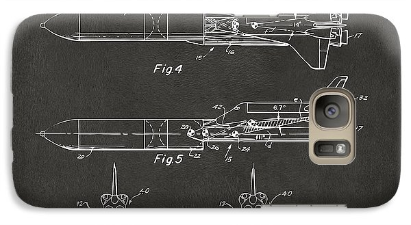 1975 Space Vehicle Patent - Gray Galaxy S7 Case by Nikki Marie Smith