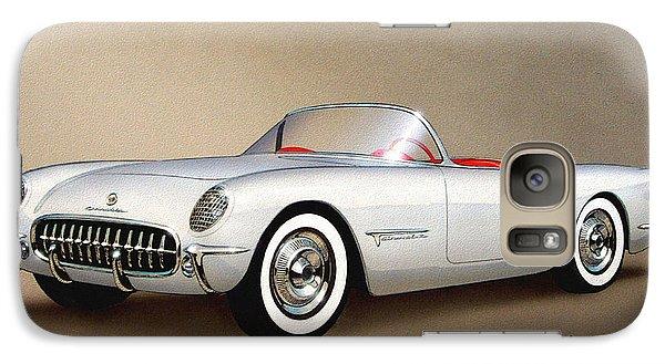 1953 Corvette Classic Vintage Sports Car Automotive Art Galaxy S7 Case by John Samsen