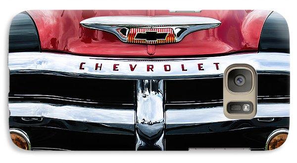 1955 Chevrolet 3100 Pickup Truck Grille Emblem Galaxy Case by Jill Reger