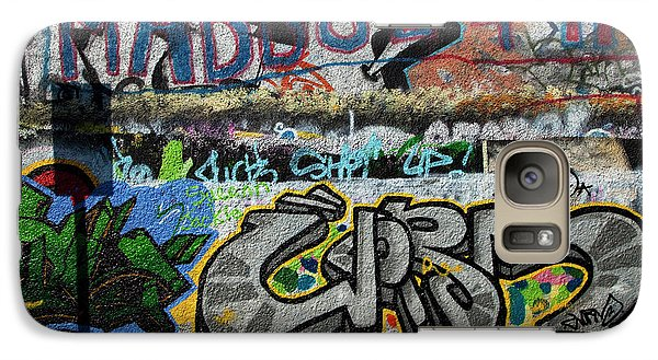 Artistic Graffiti On The U2 Wall Galaxy S7 Case by Panoramic Images