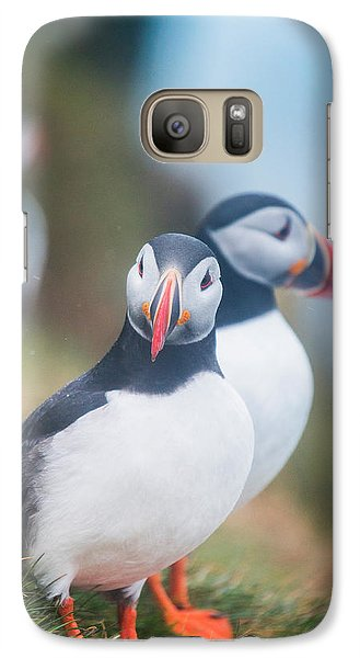 Atlantic Puffins Fratercula Arctica Galaxy S7 Case by Panoramic Images