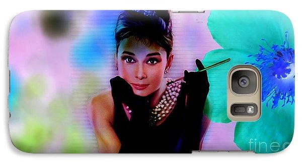 Audrey Hepburn  Galaxy Case by Marvin Blaine
