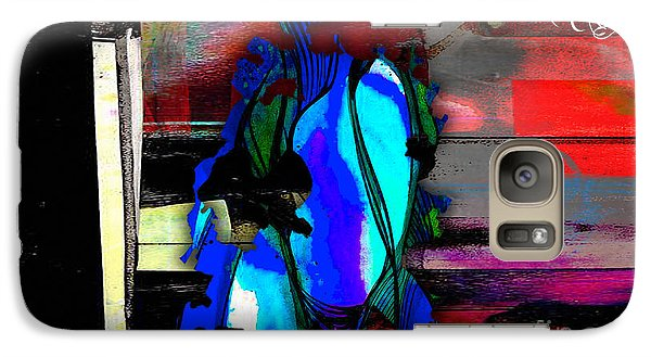 Austin Texas Map Watercolor Galaxy Case by Marvin Blaine