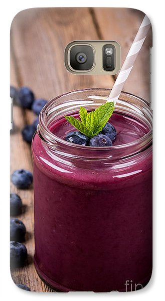 Blueberry Smoothie Galaxy Case by Jane Rix
