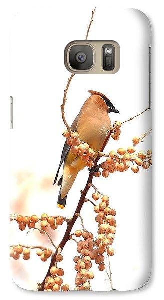 Cedar Wax Wing Galaxy S7 Case by Floyd Tillery